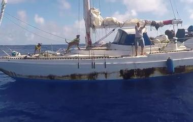 Sheer joy after Navy rescues women stranded at sea for 147 days